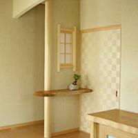 玄関ホール飾り棚